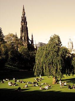 Scott Monument, Edinburgh, Scotland, Monument, Green