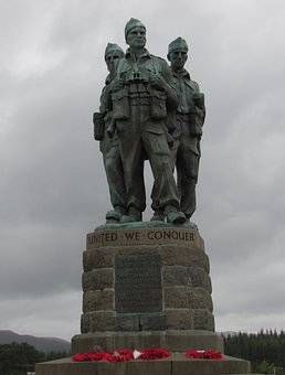 Scotland, War Memorial, Commando, Highlands