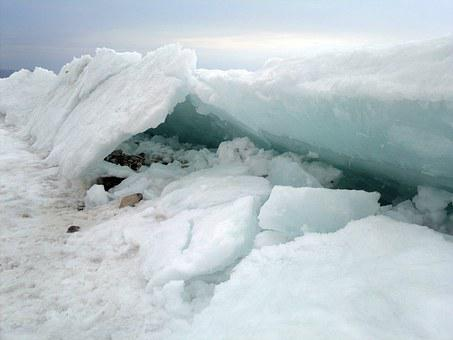 Frozen, Lake, Ice, Siberia, Baikal, Russia, Winter