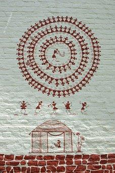 Warli, Drawing, Pune, Wall, Etno, Motif