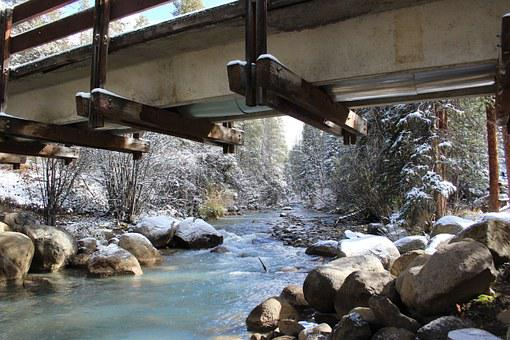 Winter, Bridge, Snow, Nature, Landscape, Ice, River