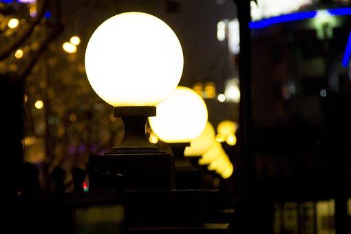 Street Lamp, Night View, Street View, Evening