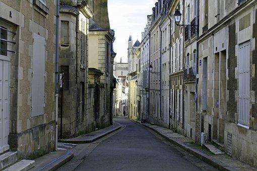 Poitiers, Old City, Street, French, Empty, Narrow