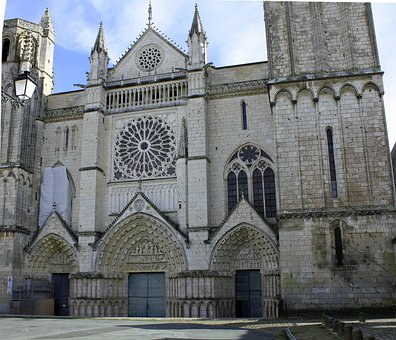 Cathedral Front, French Cathedral, Ornate Church