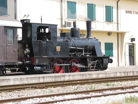 Steam, Train, Station, Boretto, Old, Railroad