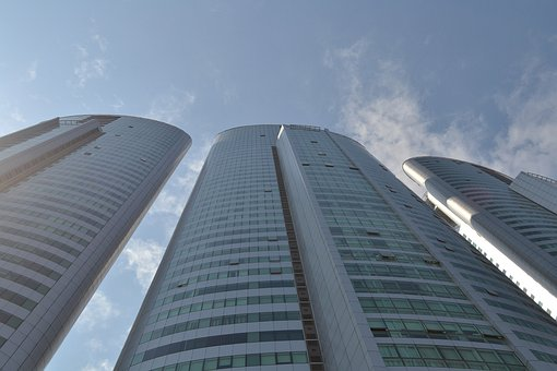 Skyscrapers, Buildings, High, City, Architecture, Urban