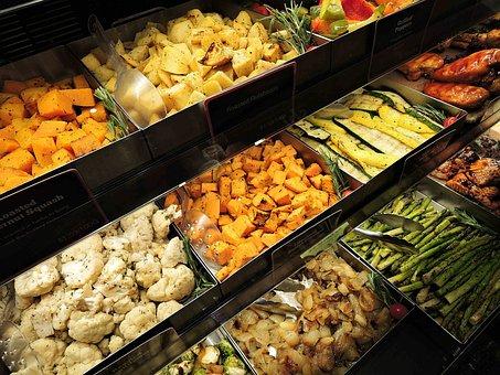 Cooked Vegetables, Squash, Cauliflower, Asparagas