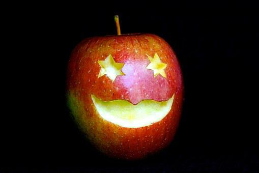 Fruits, Apple, Face, Laugh, Star, Eyes, Mouth