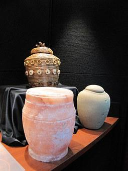 Urns, Green, Burial, Death, Funeral, Mourning, Stone
