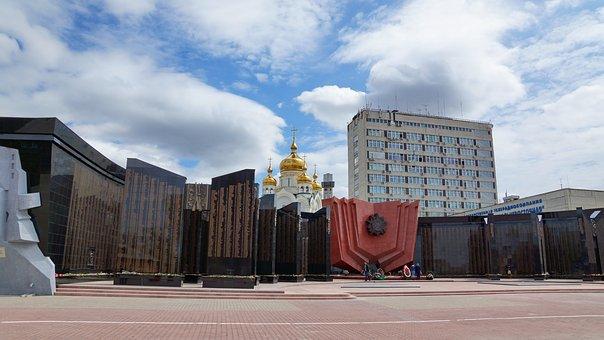 Ploschad Slavy, Temple, Khabarovsk