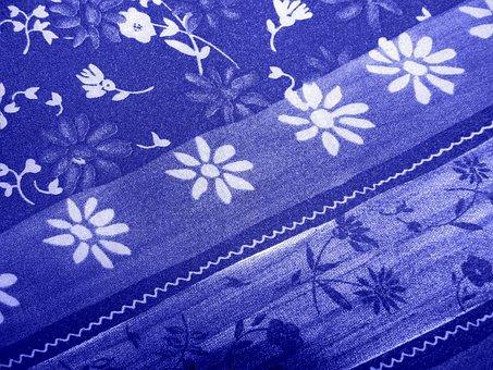 Background, Fabric, Patterns, Blue, Texture, Textile