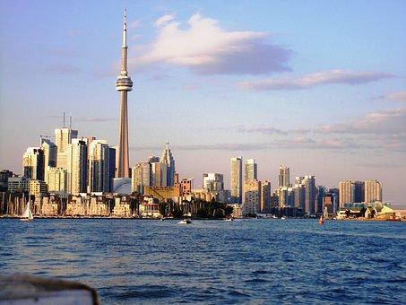Toronto, Skyline, Cityscape, Skyscraper, Urban