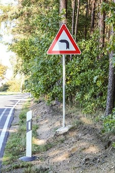 Traffic Sign, Curve, Street Sign, Warning, Note