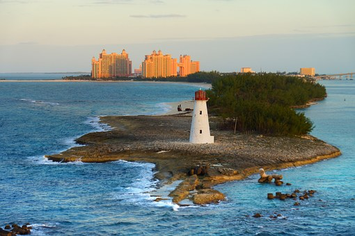 Bahamas, Lighthouse, Caribbean, Sea, Atlantis, Travel