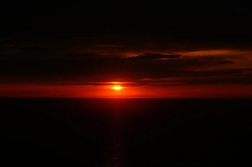 Sunset, Twilight, Horizon, Mediterranean Sea, Seascape