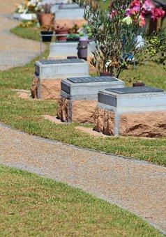 Graves, Urn Tomb, Cemetery, Away, Garden