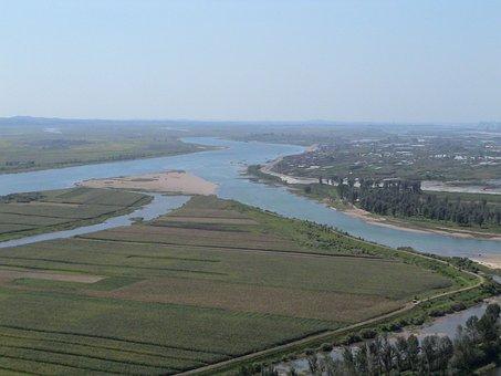 River, Border, China, Outlook, North Korea, Vision