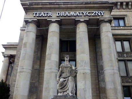 Theater, Warsaw, Drama Theatre, Monument, Lake Dusia