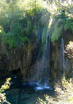 Plitvice Lakes, Waterfall, Lake, Europe, Water