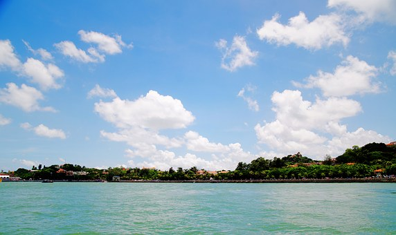 Blue Sky, White Cloud, Sea, Xiamen