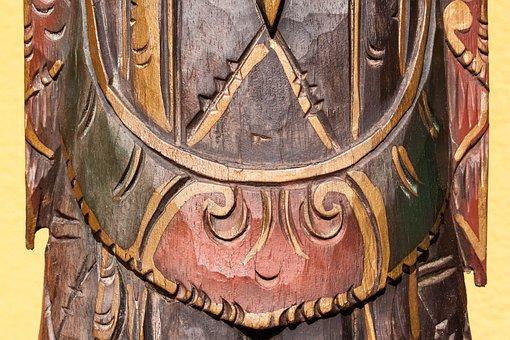 Carving, Ornaments, Temple Guardian, Bali, Wood