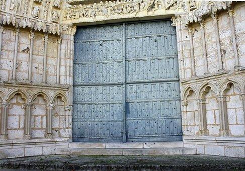 Ornate Doorway, Grand Entrance, Big Wooden Doors