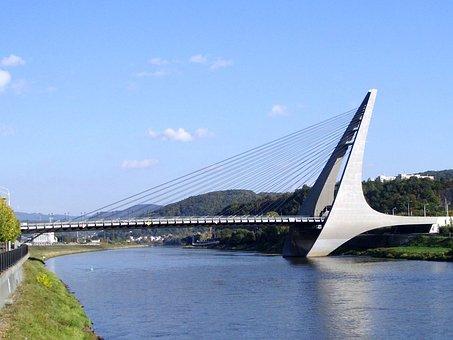 Bridge, Suspension Bridge, Suspension, Transportation