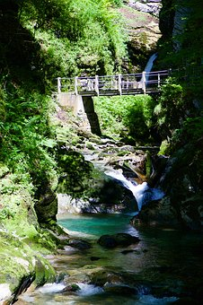 Thurbach, Bach, Gorge, Tobel, Bridge