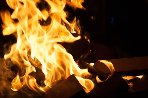 Fire, Bonfire, Camping, Tue