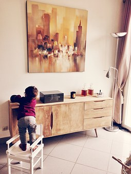 Child, Foolishness, Living Room, Table, Chair