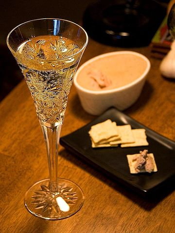 Pate, Champagne, Wine, Drink, Food