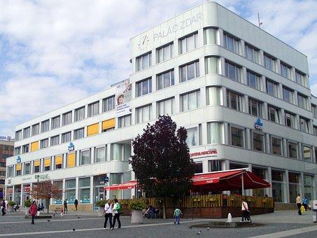 City Center, City, ústí Nad Labem, House, Peace Square