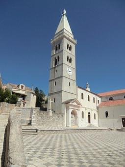Mali Losin, Church, Tower, Croatia, Architecture