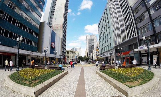 Curitiba, Street, November, Boardwalk, Brazil