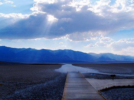 Death Valley, Dessert, Sunset, Mountains