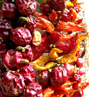 Dried Cherry, Pointed Dried Paprika, Vegetables