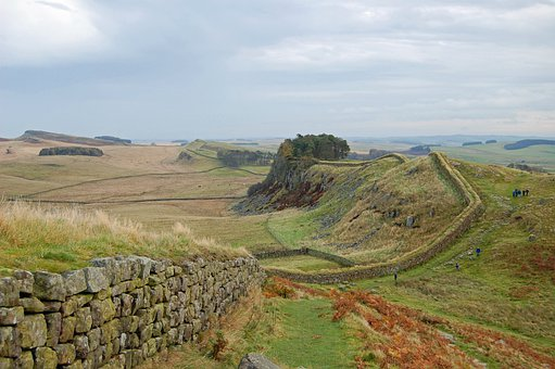 England, Great Britain, Hadrian's Wall, Landscape