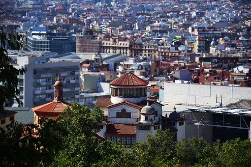 View, Barcelona, Gaudí, Garden Gaudí