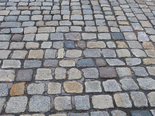 Road, Ground, Paving Stones, Away, Texture, Stone