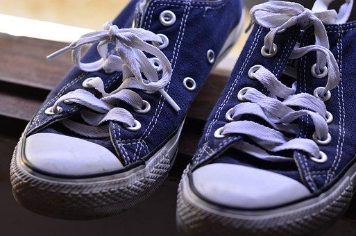 Shoes, Tennis, All Star, Shoe, Gumshoes, Blue