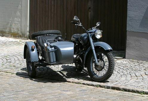 Old Motorcycle, Bmw, Sidecar, Historic Motorcycle
