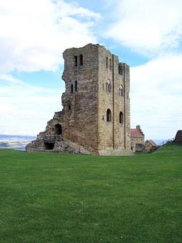 Scarborough, Castle, Ruin, Brick, History, Stone