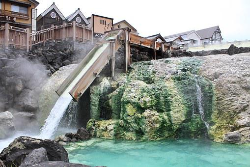Kusatsu, Yubatake, Hot Springs, Sinter