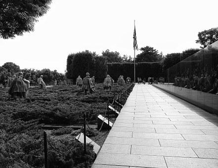 Monument, Korean War, Memorial, War, Washington, Dc