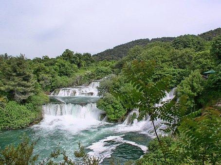 Croatia, National Park, Krka, Waterfalls, Cascade