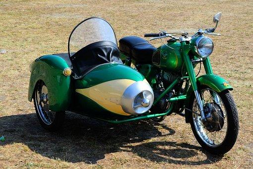 Motorcycle, Sidecar, Old Motorcycle, Oldtimer