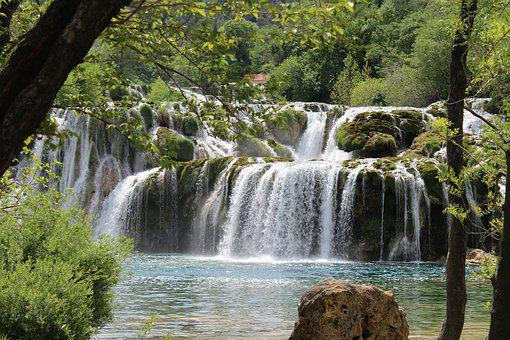 Waterfalls, National Park, Krka, Croatia, Nature, River