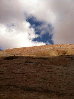 Patch Of Blue, Desert, Landscape, Wilderness, Scenery