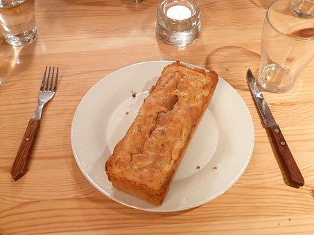 Zwiebelkuchen, Cake, Piece Of Cake, Finish, Serve, Eat