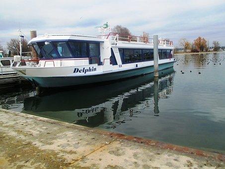Ship, Motor Ship, Port, Lake, Water, Lake Constance